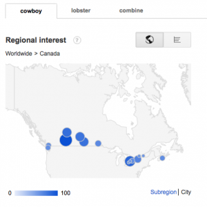 Cowboy Search Interest by City
