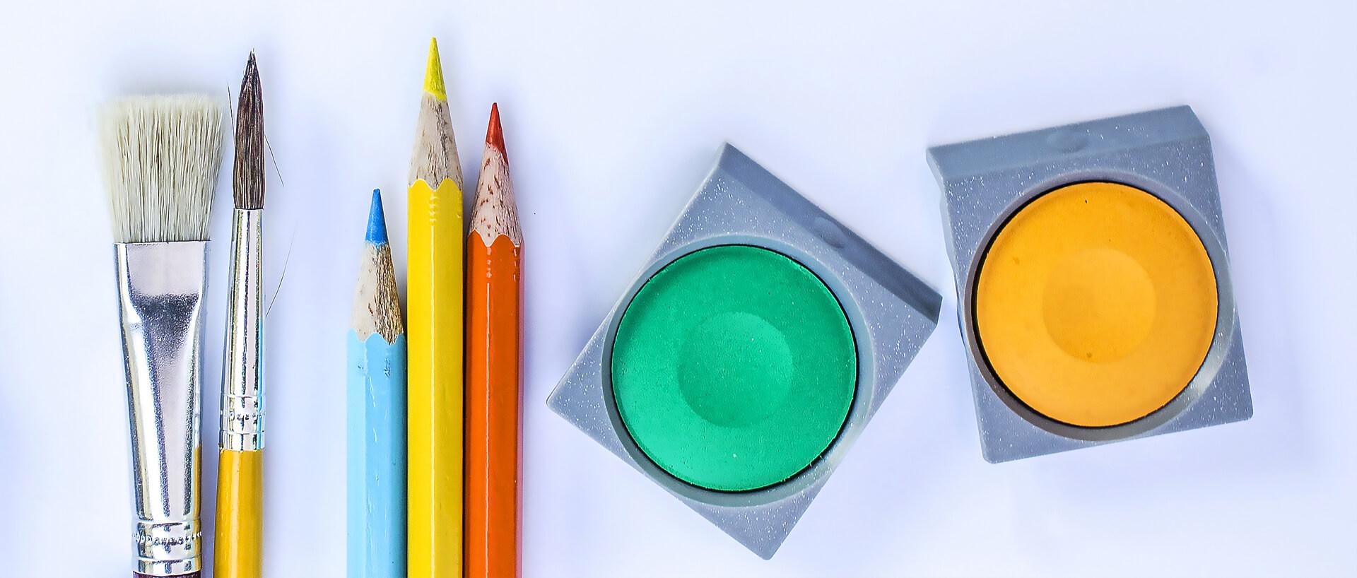 variety of art supplies