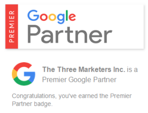 The Google Partner Badge for The Three Marketers