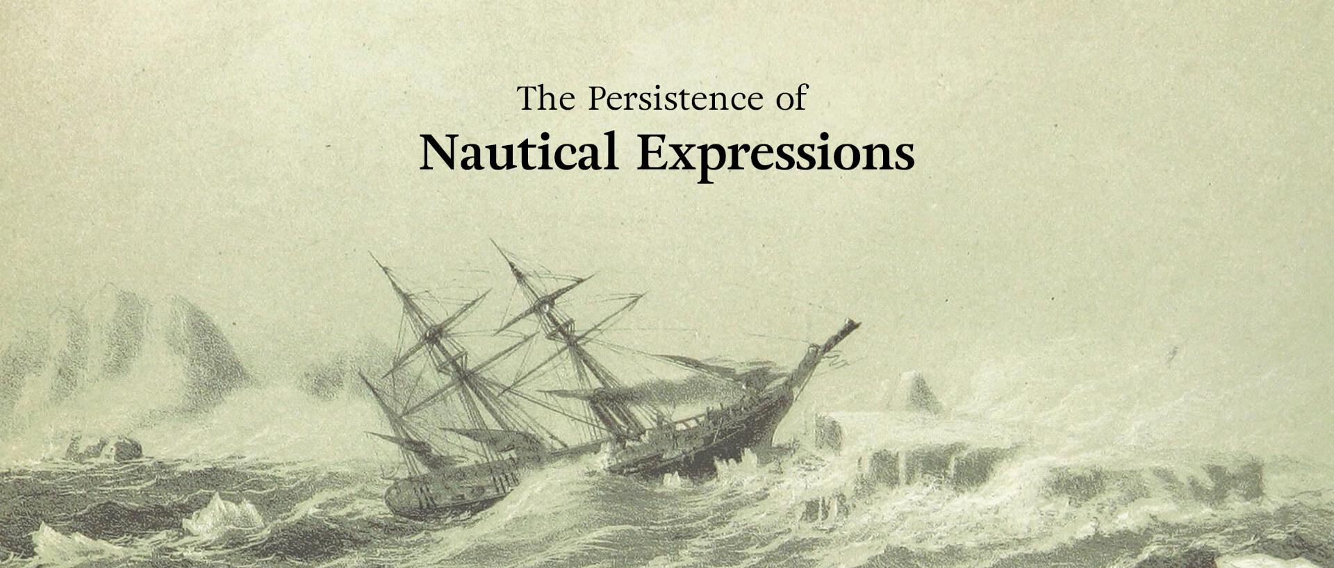 a lithograph of a ship navigating through waves
