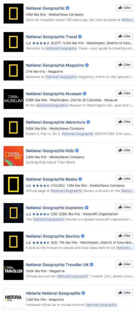 national geographic facebook accounts
