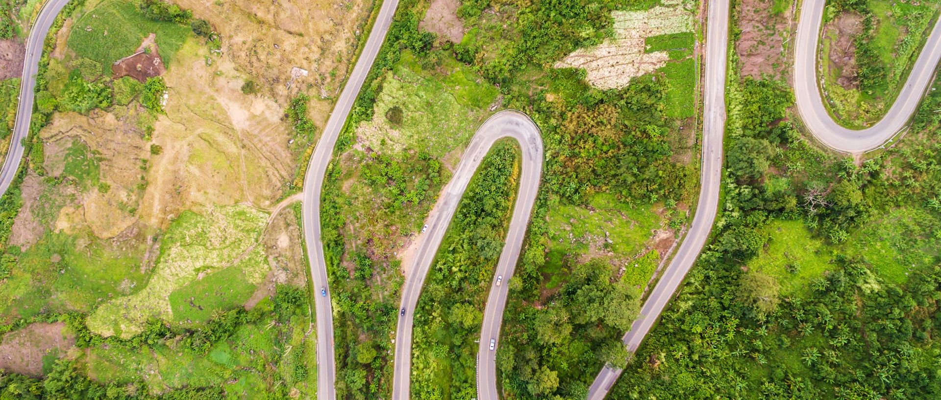 Aerial view of multiple roads